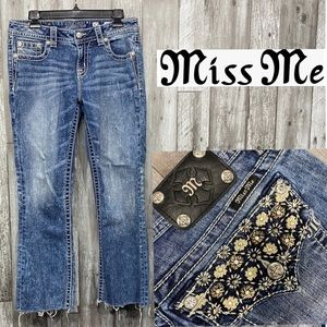 Miss Me Mid Rise cropped jeans